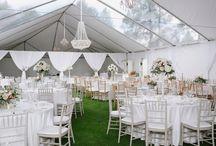 Elegant Pink & White Tented Wedding