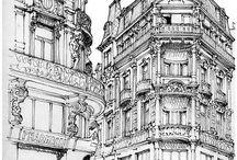Urban sketchers & drawings