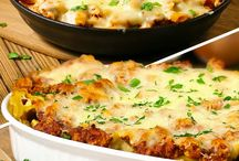 Casseroles and Skillet Meals / The comfort and ease of a casserole!  I always lighten them up with Reduced Fat Cheese, Low Sodium Soup.  I'm posting my comments on the ones I personally have made. Enjoy! / by Valerie Hoff DeCarlo