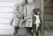 children black and white