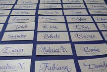 Wedding Calligraphy / Calligraphy is the key to a simple yet elegant invitation!