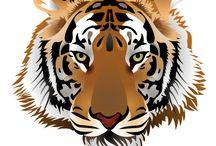 Applikationen Tiger  sticken