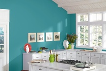 Color Trends for 2013 / The 2013 Color Forecast from Sherwin-Williams pegs 40 trending colors in 4 palettes: Midnight Mystery, Honed Vitality, Vintage Moxie and High-Voltage. Aloe gets the title of Color of the Year. For more design ideas, subscribe to my blog at www:HouseSpiration.com