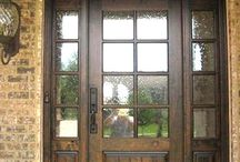 Stained Wood Front Doors