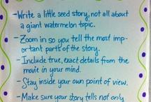 Narrative writing cues