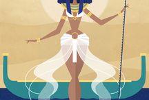 Cartoon goddess