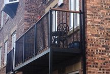metal balcony