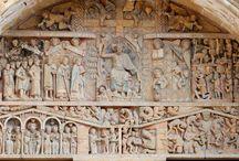 PLENA EDAD MEDIA:ROMÁNICO / 1000-1200 D.C. 1.- JUICIO FINAL.= Sta Fe de Coques 2.- MINIATURA ESPAÑOLA: Beato de .... 3.- DECORACIÓN GEOMÉTRICA ROMÁNICA. Iglesias 4.- HERÁLDICA