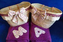 cestas y toallas de playa