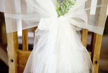 Chair tulle decorations
