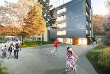 Přístavba Montessori ZŠ a MŠ Na Beránku v Praze 12 / více na webu... http://www.vysehrad-atelier.cz/projekty/pristavba-montessori-zs-a-ms-na-beranku-v-praze-12/