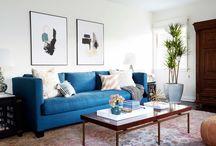 Azure Blue Livingroom