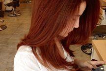 cabello naranjo