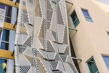 Facade perforated