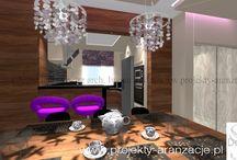 aranżacja salonu, styl nowoczesny z elementami glamour