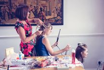 Wedding Hairdressing Photographs / Wedding photographs of haridressers and wedding hair styling from one thousand words wedding photographers