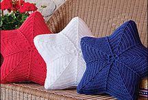 stella a uncinetto copri cuscino