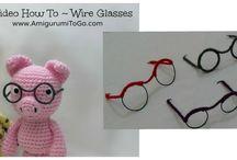 Amigurumi glasses tutorial