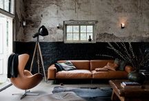 M ❤️ Livingroom / Cigar cognac couch just love it