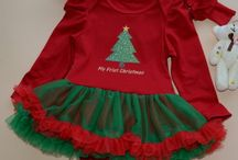 Baby Christmas Clothes / Unique & newest collection of kids holiday and Christmas outfits like baby dresses, little girl tutu dresses, boys outfits, Christmas headband & clips, infant romper dress, suspenders and bow ties for children's in India.