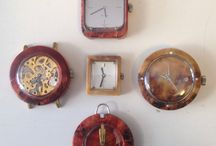 Hard wood clocks / Own production of wooden watches