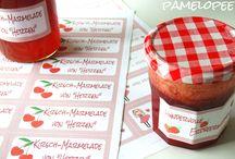 Etiketten Marmelade
