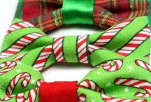 Christmas Moodboard / Add some spice with some Christmas bow ties.