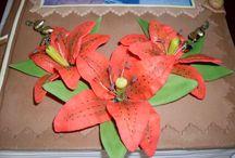 Moje marcipánové kvety / kvety vyrábané z marcipánu na drátikoch