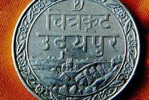 Индия Редкое серебро и медь RARE Indian Silver and Cu coins