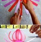 Een papieren bloem