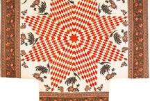 Quilt: Mariner's compass, New York Beauty