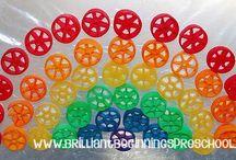 Preschool Rainbows / Colorful projects for preschoolers.