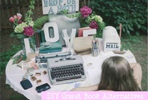 Guest Book Alternatives / Creative alternatives for guest books on your wedding day.