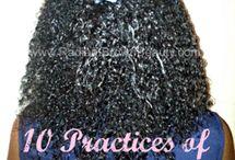 Hair: Natural Hair Care Info / by Myah Gary