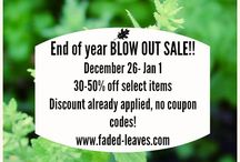 Promos / All specials and promos from Faded Leaves, LLC