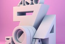 TYPO 3D / just 3d typography, virtual or real