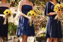 Sunflower and Blue / Wedding ideas