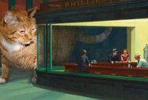 Les chats chez Edward Hopper