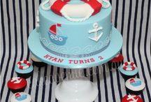 Summer cakes. Nautical and SEA