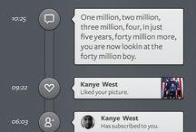 Mobile UI : Timelines