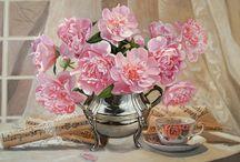 Obrazy olejne których autorem jest Tomasz Mrowiński / Obrazy olejne, kwiaty, pejzaże, portrety, martwa natura. Tomasz Mrowiński