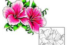 Flower Tattoos / Flower tattoo designs created by Tattoo Johnny artists