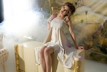 Lina Liri's Unique Silk Creation Nightgown With Romatic French Lace Sophie Hallette. / Lina Liri's Unique Silk Creation Nightgown With French Lace Sophie Hallette.
