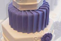 Pleated Wedding Cakes