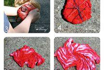 Tie dye kit / Kumaş boyası ile yastık tişört yapımı