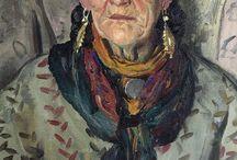 Oil portrait love