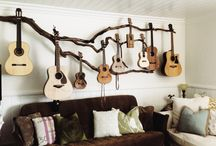 guitar hanging display