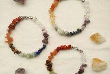 Pulseras Cristales Naturales / Joyería en cristales naturales y acero quirúrgico, ideales para gemoterapia
