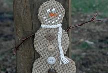Burlap Christmas / by Jessica Biffle