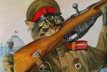 коты - живопись